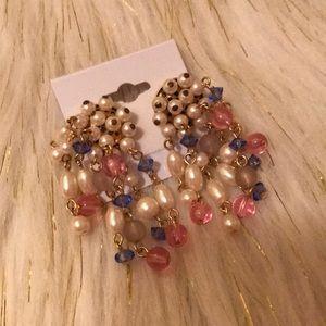 Jewelry - True vintage dangling pearl and bead earrings